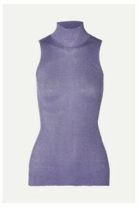 Missoni - Metallic Ribbed-knit Turtleneck Top - Lilac