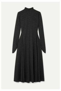 Runway Marc Jacobs - Glittered Polka-dot Stretch-jersey Midi Dress - Black