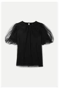 Marc Jacobs - Evening Layered Swiss-dot Tulle And Cotton-jersey Top - Black