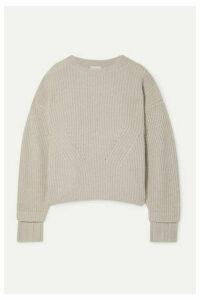 Le Kasha - Noodle Oversized Ribbed Cashmere Sweater - Beige