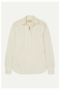 James Purdey & Sons - Tattersall Checked Cotton Shirt - Neutral