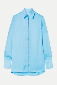 Victoria, Victoria Beckham - Satin-twill Shirt - Sky blue
