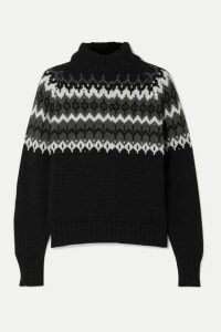 &Daughter - Bansha Fair Isle Merino Wool Turtleneck Sweater - Black