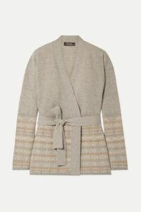 Loro Piana - Belted Fair Isle Cashmere Cardigan - Neutral