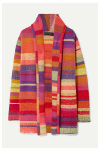 The Elder Statesman - Striped Cashmere Cardigan - Pink