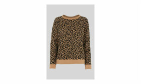 Flocked Leopard Sweatshirt