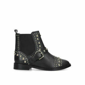 Kurt Geiger London Mini Stinger - Black Studded Ankle Boots Ages 8-13