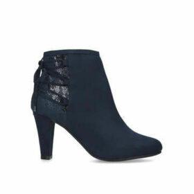 Carvela Comfort Tash - Navy Lace Up Ankle Boots