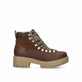 KG Kurt Geiger Tango - Tan Lace Up Hiker Boots