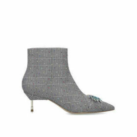 Kurt Geiger London Bellevue - Check Cigarette Heeled Ankle Boots