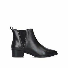 Carvela Spiral - Black Flat Ankle Boots