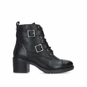 Carvela Stacey - Black Block Heel Biker Boots
