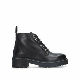 Carvela Trinket - Black Lace Up Ankle Boots