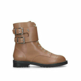Kurt Geiger London Sutton - Tan Lace Up Biker Boots