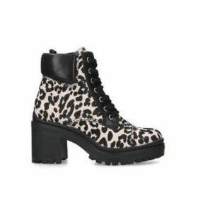 Aldo Brania - Pink Leopard Print Block Heel Ankle Boots