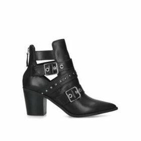 Aldo Gweliclya - Black Embellished Buckle Detail Ankle Boots