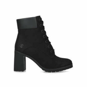 Timberland Allington 6in - Black Lace Up Ankle Boot With Block Heel