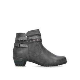Carvela Comfort Tizzy - Grey Studded Ankle Boots