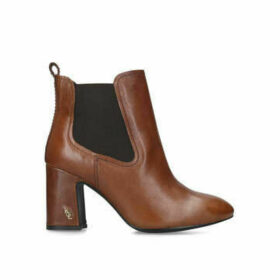Kurt Geiger London Raylan - Tan Leather Block Heel Ankle Boots