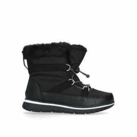 Carvela Comfort Rudy - Black Drawstring Snow Boots