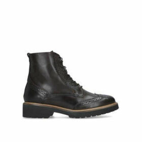 Carvela Snail - Brown Brogue Detailing Lace Up Hiker Boots