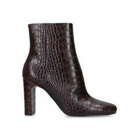 Aldo Torfiviel - Brown Croc Print Block Heel Ankle Boots