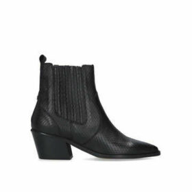 Carvela Stella - Black Western Style Ankle Boots