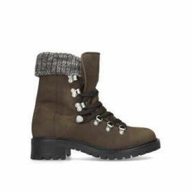 Aldo Menuda - Khaki Hiker Boot With Knitted Collar