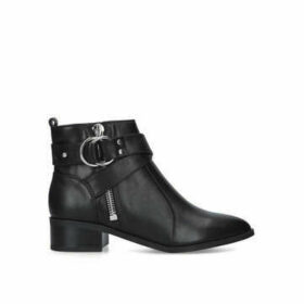 Nine West Dahila - Black Buckle Detail Ankle Boots
