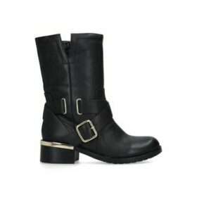 Vince Camuto Wethima - Black Buckle Detail Calf Boots