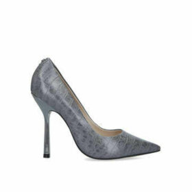 Carvela Achieve - Grey Croc Print Stiletto Heel Courts