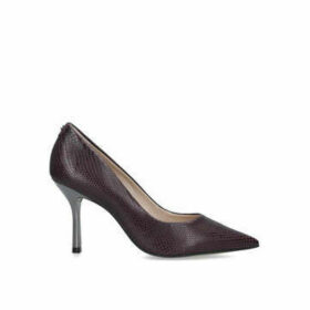 Carvela Achievement - Wine Snake Print Stiletto Heel Courts