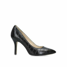 Nine West Flagship - Black Croc Print Court Shoe