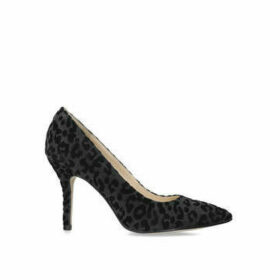 Nine West Flagship - Black Leopard Print Court Shoe