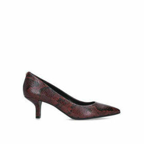 Michael Michael Kors Katerina Flex Kitten Pump - Brown Snake Print Court Shoe