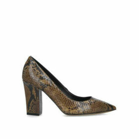 Vince Camuto Candera - Snake Print Block Heeled Court Shoe