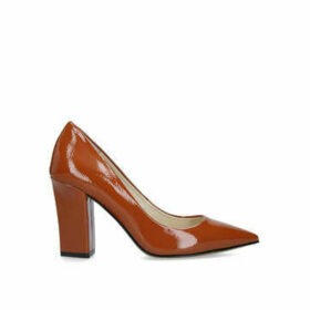 Vince Camuto Candera - Orange Block Heeled Court Shoe