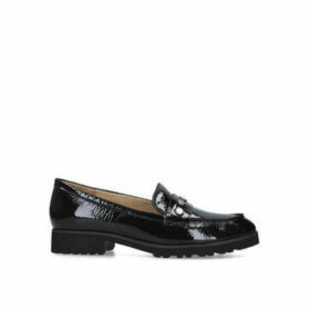 Naturalizer Gaia - Black Patent Loafers With Stud Details