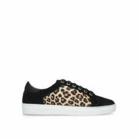 Carvela Jackal - Black And Leopard Print Lace Up Trainers