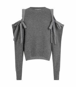 Open Shoulder Knit Sweater