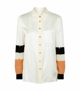Satin Colour-Block Shirt