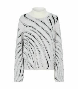 Zebra Fringe Sweater