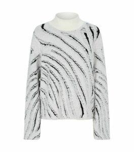 Zebra Fringe Sweater