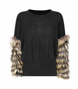 Wool-Cashmere Fox Fur Sweater