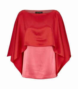 Satin Cape Detail Blouse