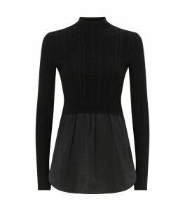 Karla Shirt-Hem Sweater