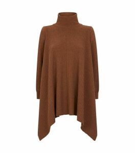 Cashmere High-Neck Blanket Sweater