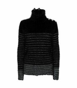 Mohair High-Neck Sweater