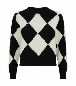 Pixelated Intarsia Argyle Sweater