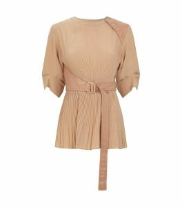 Belted Pleated Vanezza Top